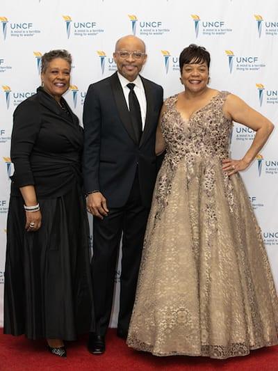 UNCF Staff: L.R. Dianna Ruffin, Development Associate, Maurice Jenkins, EVP & Chief Development Officer, Robin Byrd, Area Development Director