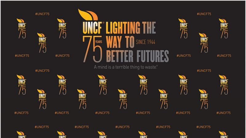 UNCF 75th anniversary banner image