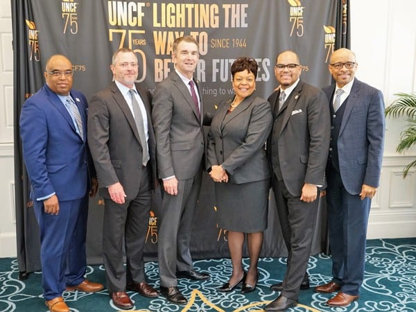 Fred Mitchell, Frank Hinckle, Gov. Northam, Robin Byrd, Dr. Hakim Lucas, and Maurice Jenkins,