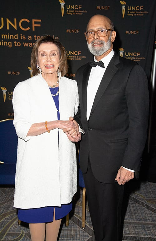Speaker Nancy Pelosi with Dr Lomax