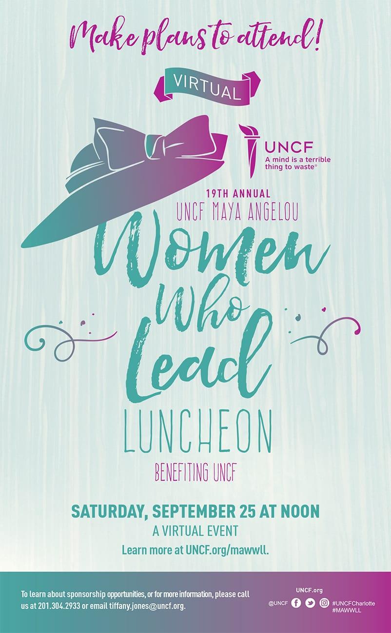 2021 Virtual Maya Angelou Women Who Lead Luncheon – Charlotte