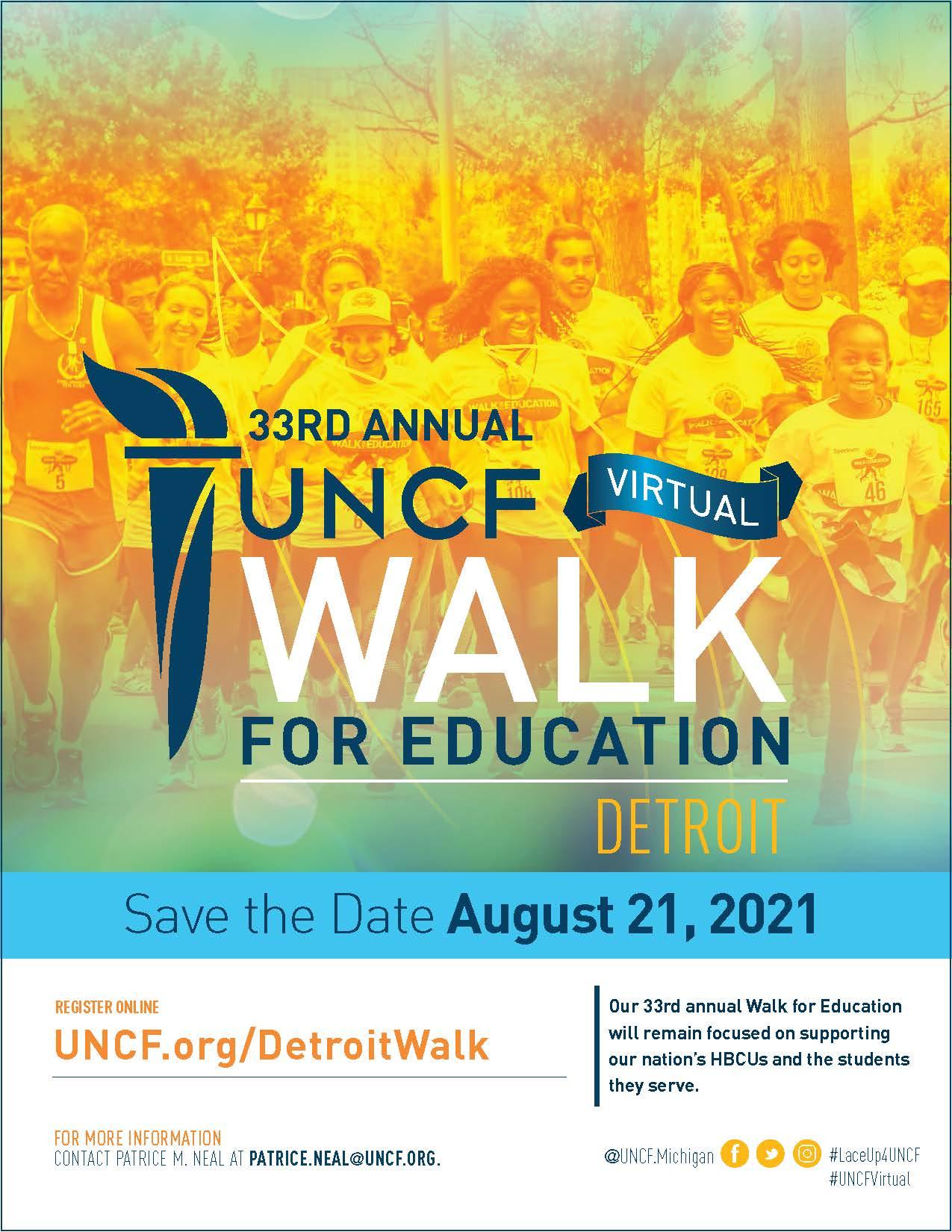 2021 Virtual Walk for Education – Detroit