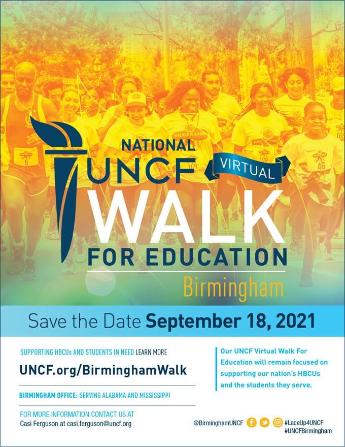 2021 UNCF Virtual Walk for Education – Birmingham