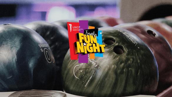 Indy Family Fun Night/Bowlathon banner