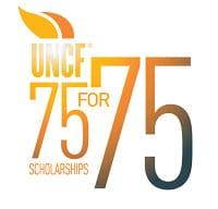 UNCF 75 For 75 Scholarships Logo