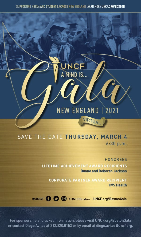 """2021 UNCF Virtual """"A Mind Is…"""" Gala – New England"""