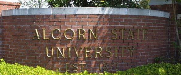 Alcorn State University sign