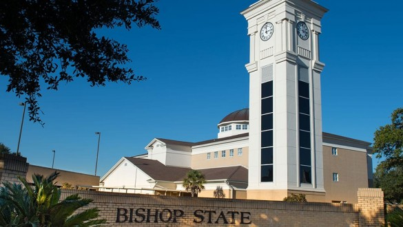 Bishop State Community College sign