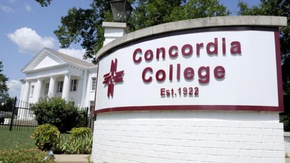 Concordia College sign