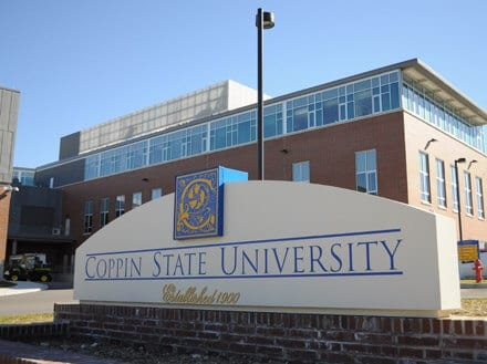 Coppin State University sign