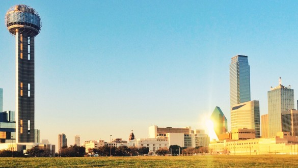 Skyline of the city of Dallas