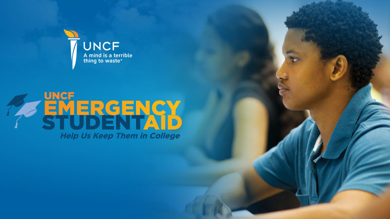 UNCF Emergency Student Aid banner