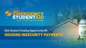 Banner ad for housing insecurity payments