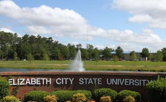 Elizabeth City State University sign