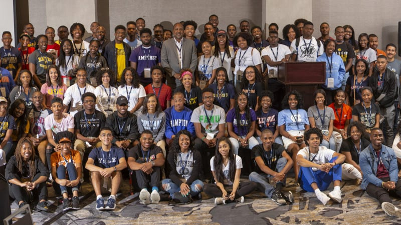 Group shot of the 2018 STEM Scholars conference attendees