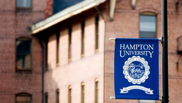 Hampton University sign