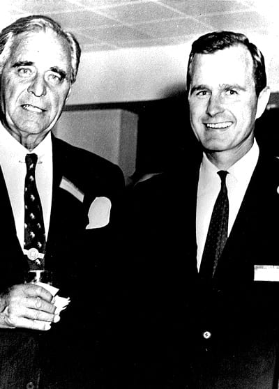 President Bush with his father, Senator Prescott Bush.