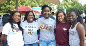 5 female Huston Tillotson University students