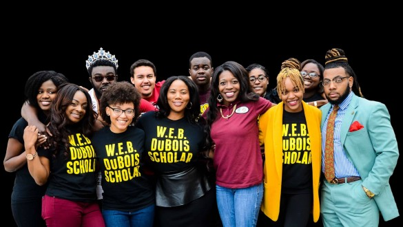Group shot of students at Huston-Tillotson University
