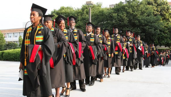 Students lined up at Interdenominational Theological Center graduation ceremonies