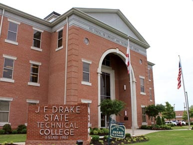 JF Drake State Community and Technical College sign