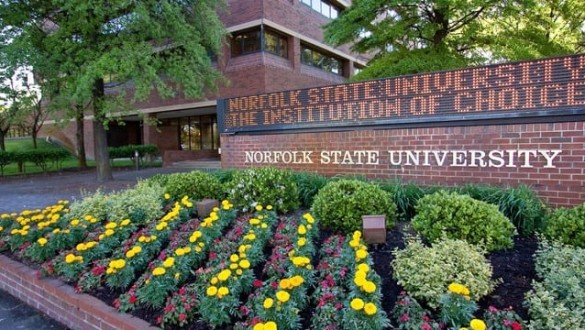 Norfolk State University sign