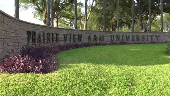 Prairie View A&M University sign