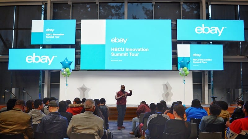 UNCF students at Ebay attending conference