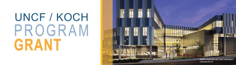 UNCF Koch program grant banner image