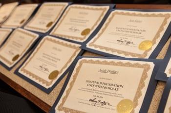 Image of program completion certificate for the Fund 2 Foundation UNCF Stem Scholars Program