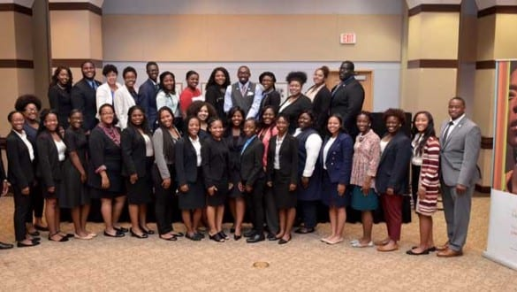 Large group shot of students attending the UNCF Student Leadership Conference