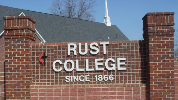 Rust College sign