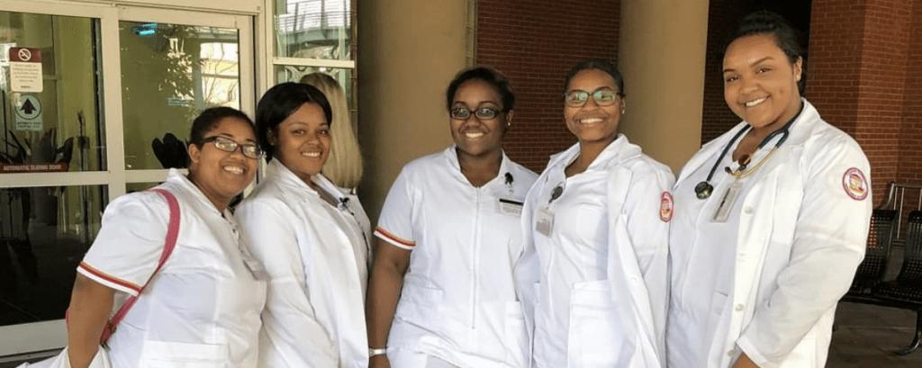 5 female nursing students at Tuskegee University