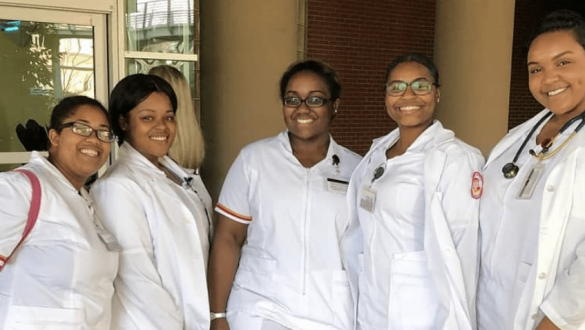 5 female nursing students at Tuskegee University
