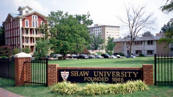 Shaw University sign