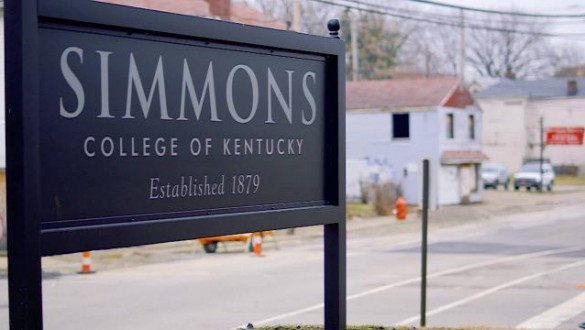Simmons College of Kentucky sign