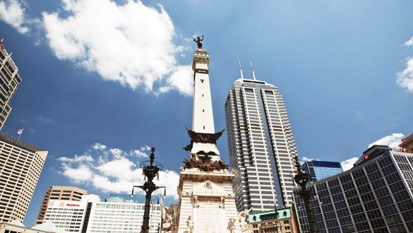 Skyline in city of Indianapolis