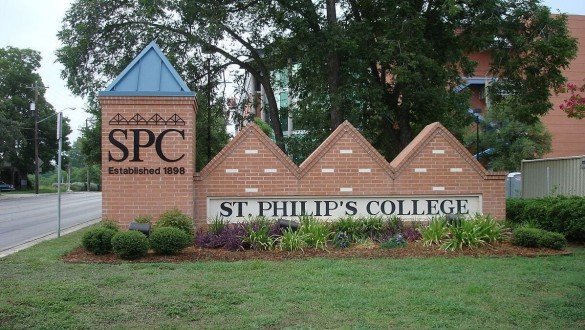 St. Philip's College sign