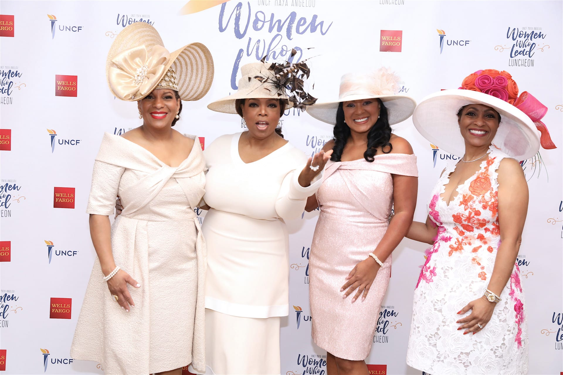 Tina Bonner-Henry, Oprah Winfrey, Tiffany L. Jones and Sonja P. Nichols