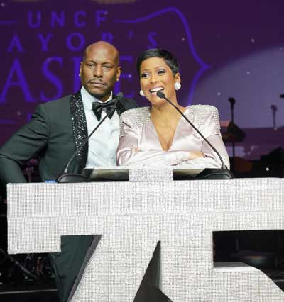 Actors Tyrese and Tamron Hall