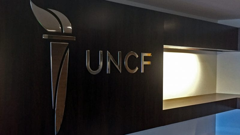 UNCF sign at its headquarters