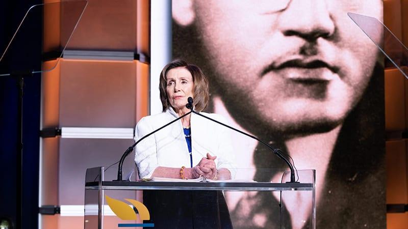 Nancy Pelosi speaking at UNCF anniversary