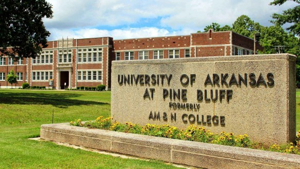 University of Arkansas at Pine Bluff sign