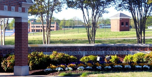 Virginia State University sign