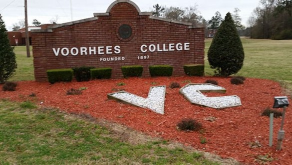 Voorhees College sign