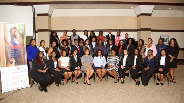 Large group shot of Walton Fellows conference attendees