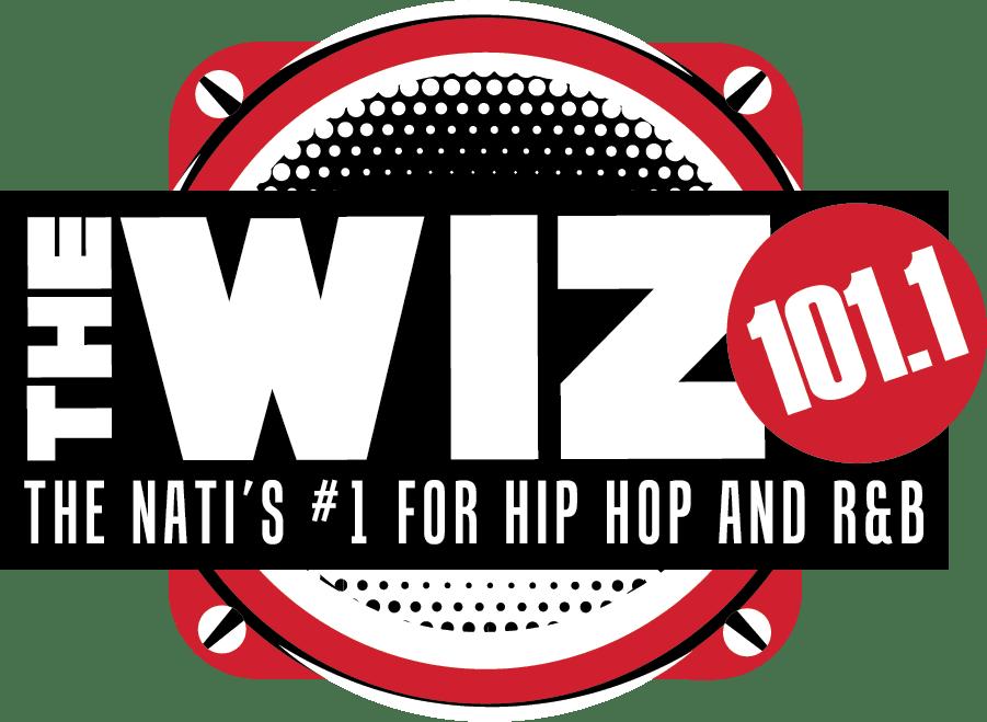 101.1 FM The Wiz logo
