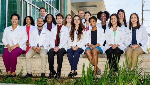 Group shot of Xavier University medical students