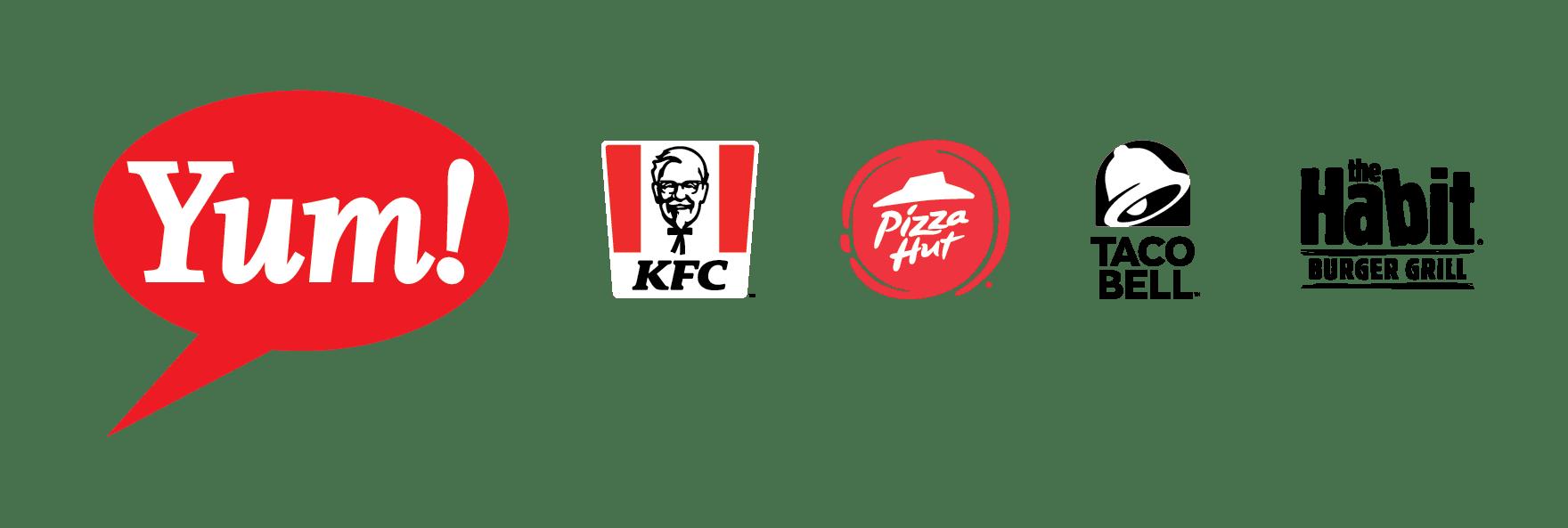 Yum! brand logos