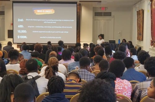 UNCF Outreach and UNCF Ambassadors student participants